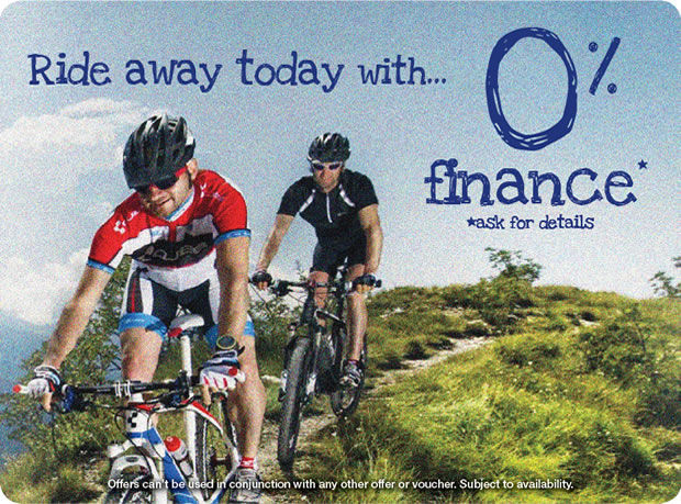0% Finance on bikes over �300