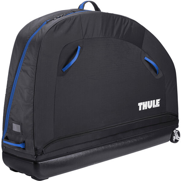 Thule RoundTrip Pro semi-rigid bike case with assembly stand click to zoom image