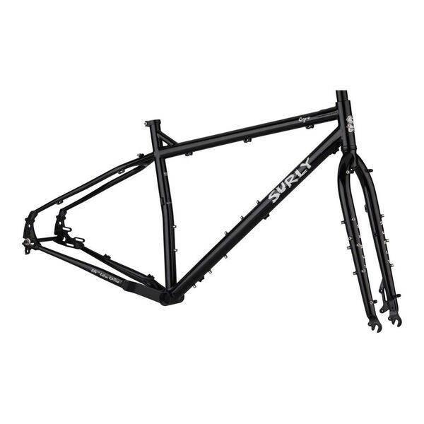 Surly Ogre Frameset 29er, Off Road/Touring, Butted 4130 Cr-Mo inc Cr-Mo Fork. 145mm DO Black click to zoom image